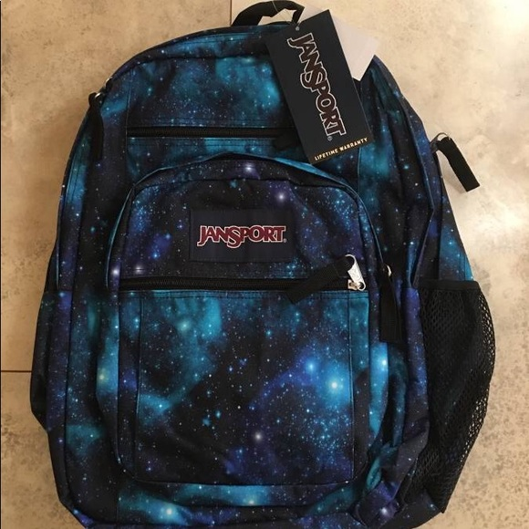 super specials distinctive style reasonably priced Jansport big student galaxy backpack NWT
